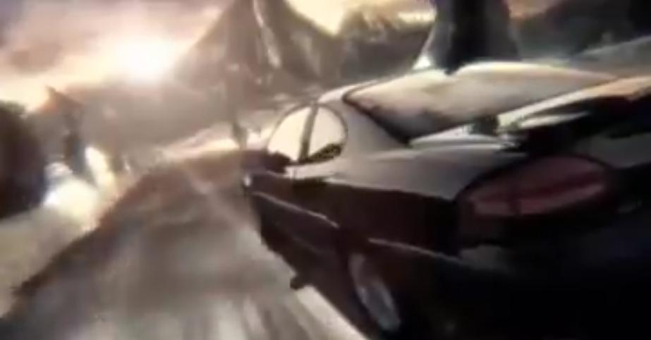 A still of a Pontiac commercial featuring a Pontiac driving across a landscape