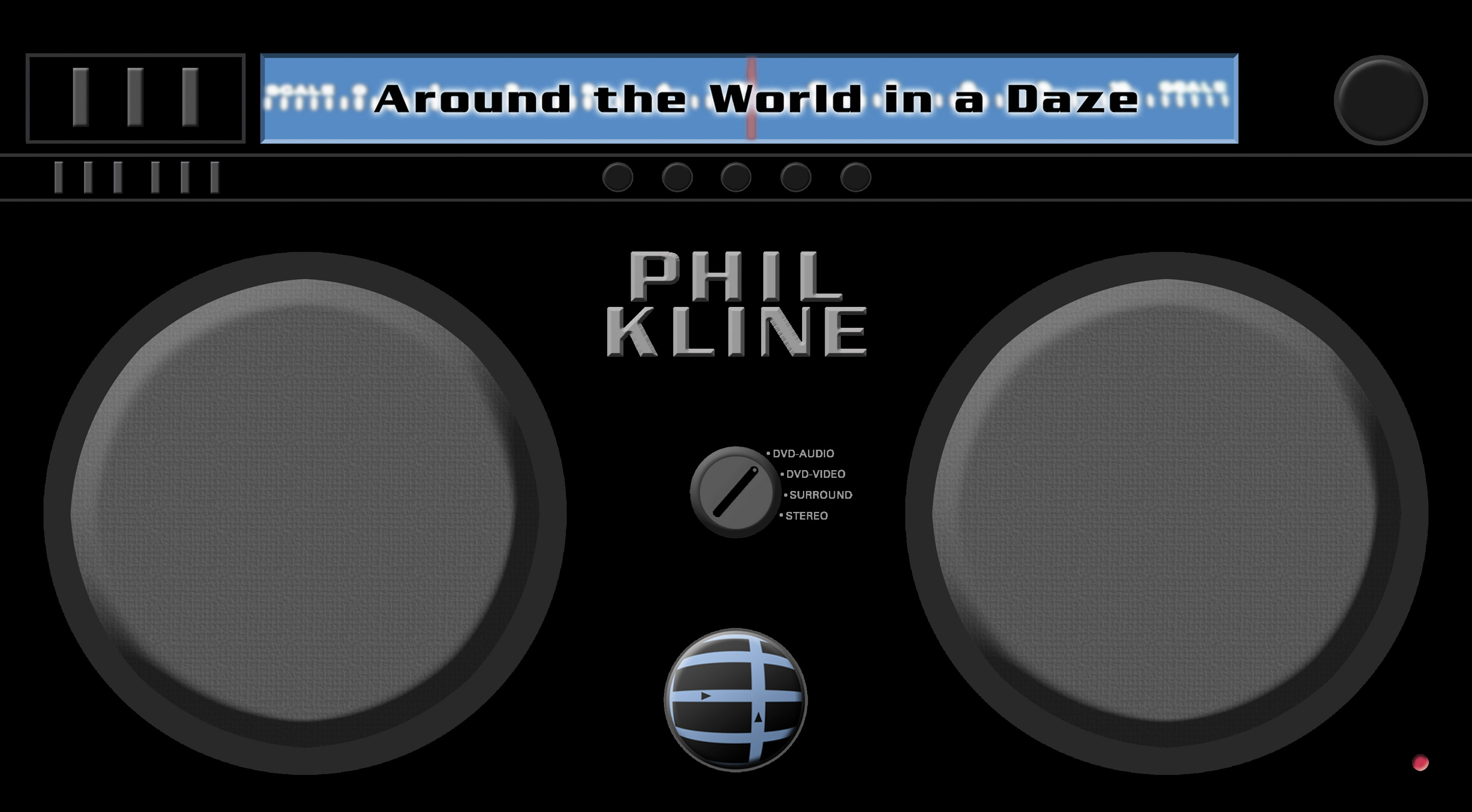 The oversized cover for Phil Kline's Around the World in a Daze which looks like a boombox.