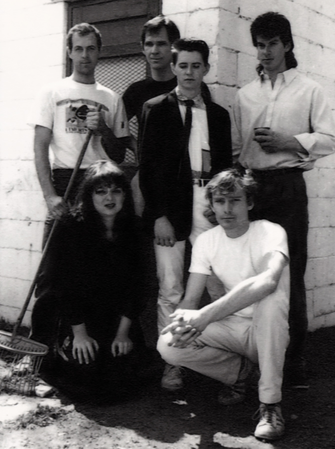 The members of the band Thinking Plague in 1987.