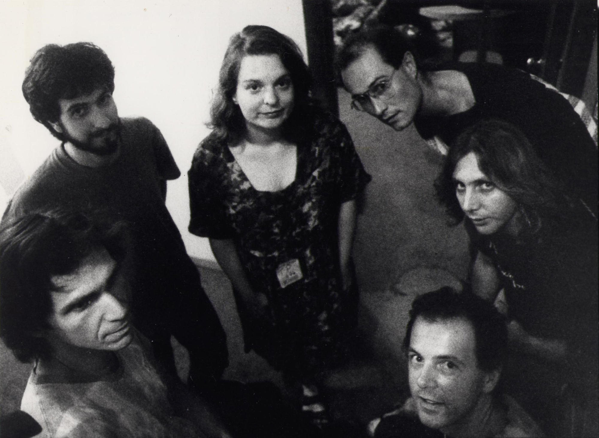 The members of the band Thinking Plague in 1990.