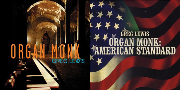 The covers of Greg Lewis's first two CDs.
