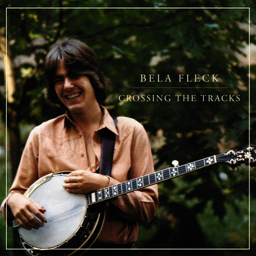 The cover of Béla Fleck's first solo record, Crossing The Tracks