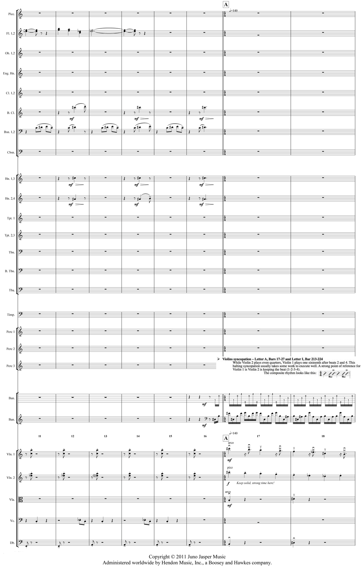 Excerpt from the full orchestral score of Béla Fleck's The Imposter