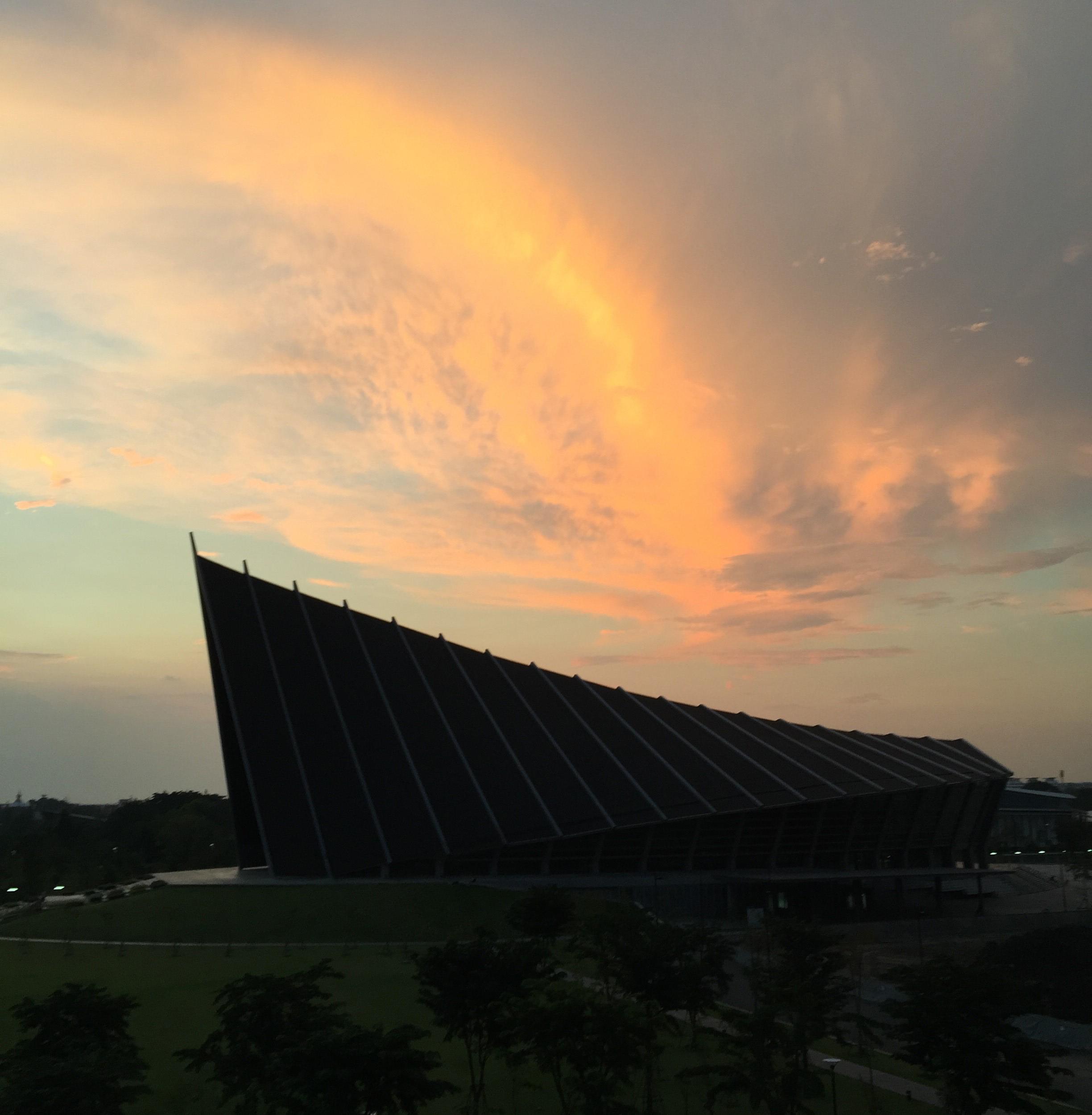 A twilight view of Mahidol University.