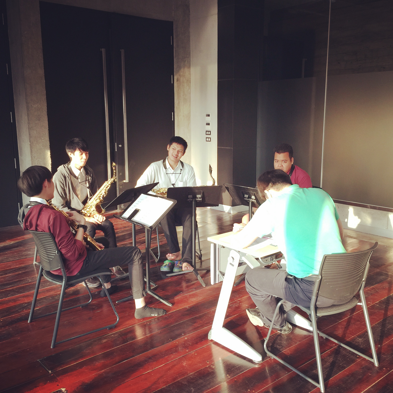 Student musicians rehearsing at Mahidol University's College of Music