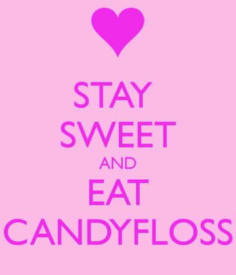 eat candyfloss