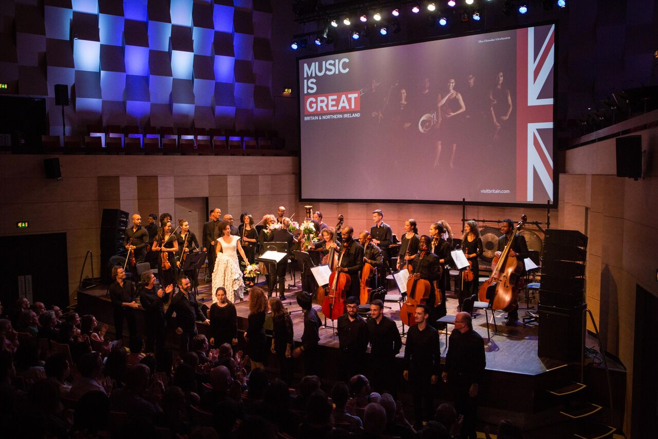 The Chineke! Orchestra take a bow after the opening concert of Classical:NEXT (Photo by Eric van Nieuwland)