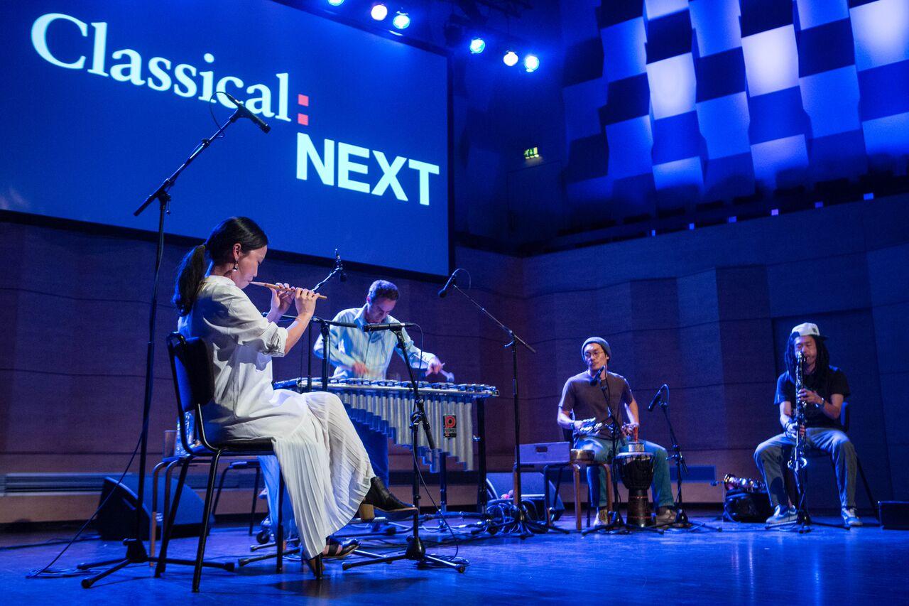 Park Jiha's mind-blowing quartet captured live in performance, (Photo by Eric van Nieuwland.)