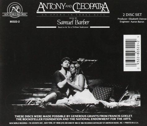 Samuel Barber's Antony and Cleopatra