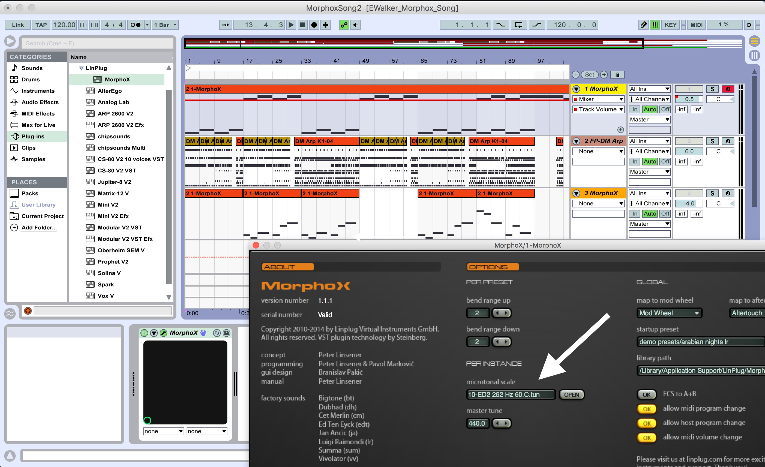 A screenshot of Ableton Live