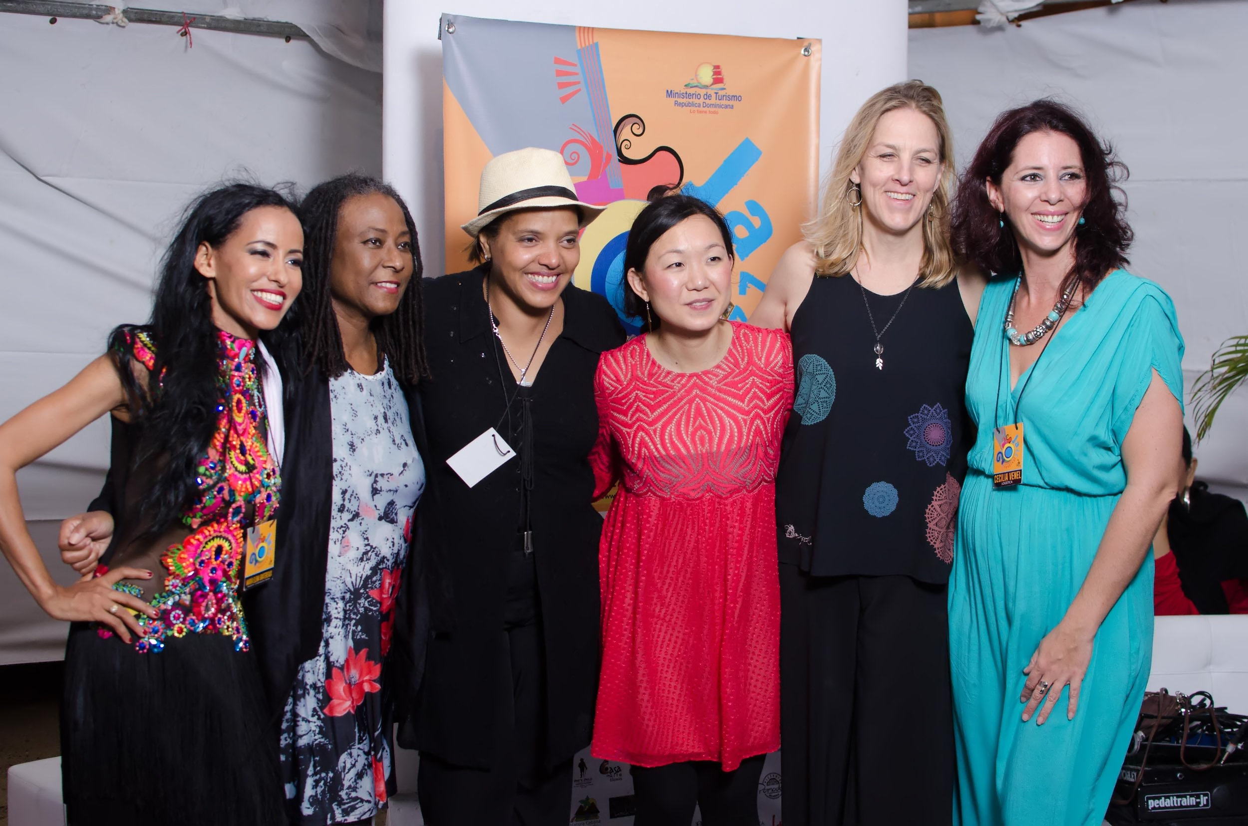 Pictured (from left to right): Maria Elena Gratereaux, Geri Allen,Terri Lynne Carrington, Linda Oh, Ingrid Jensen, and Cecilia Venel. (Photo by Gabriel Rodes)