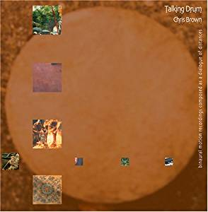 The cover for Chris Brown's CD Talking Drum.