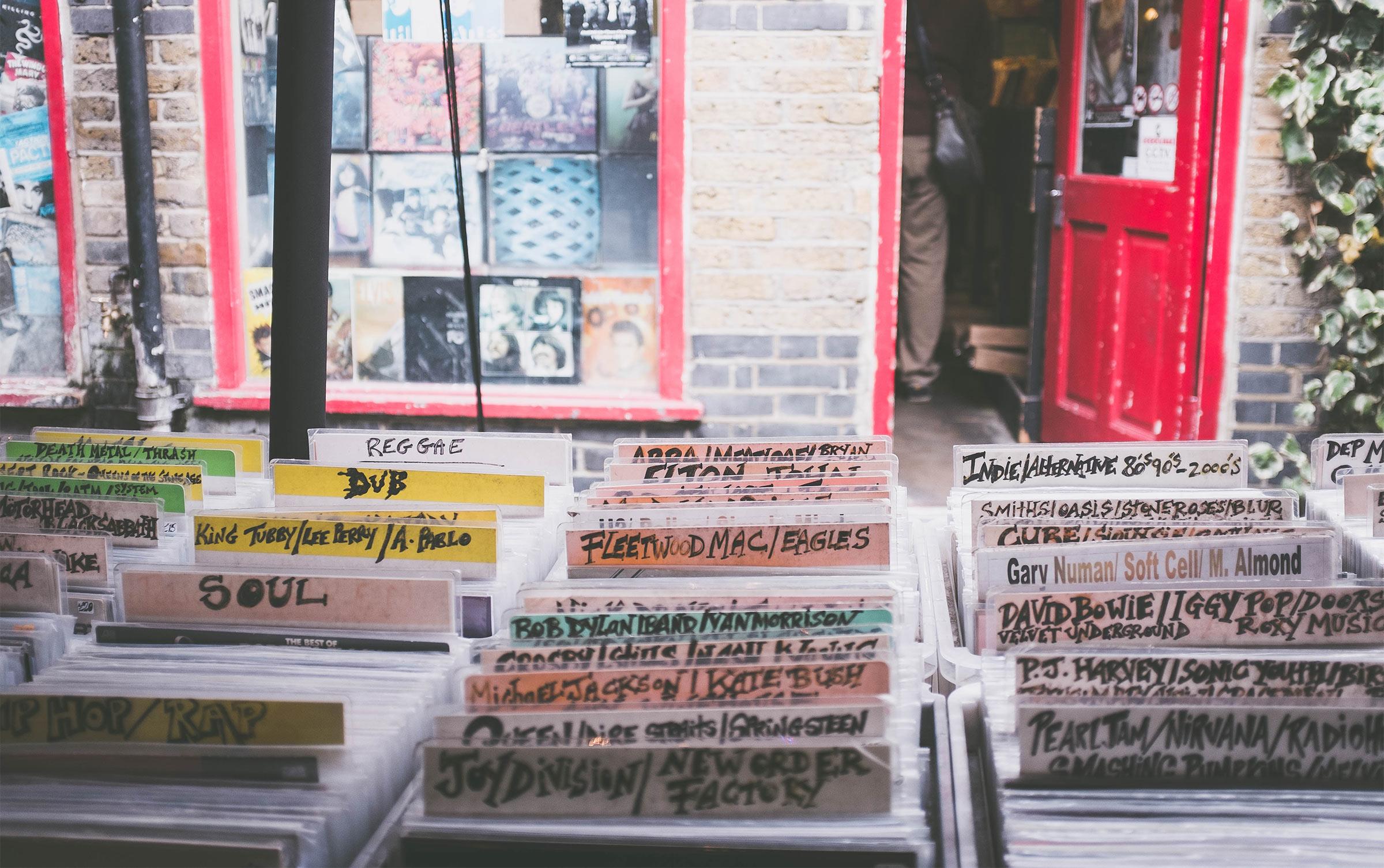 record bins