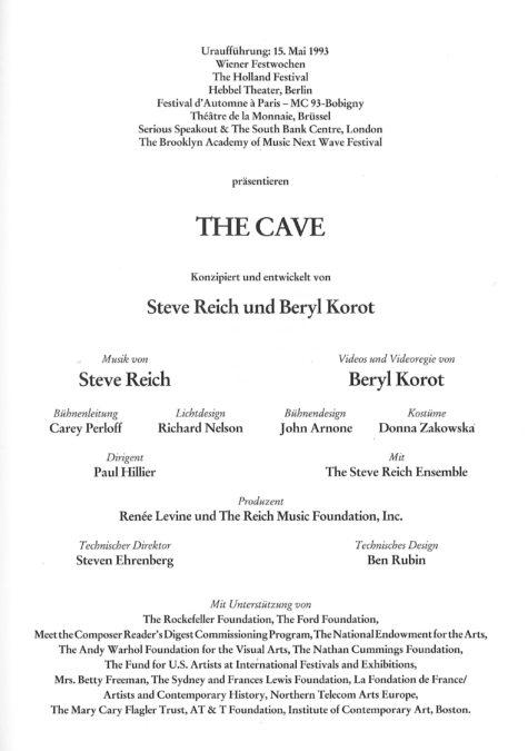 Cave Program Page
