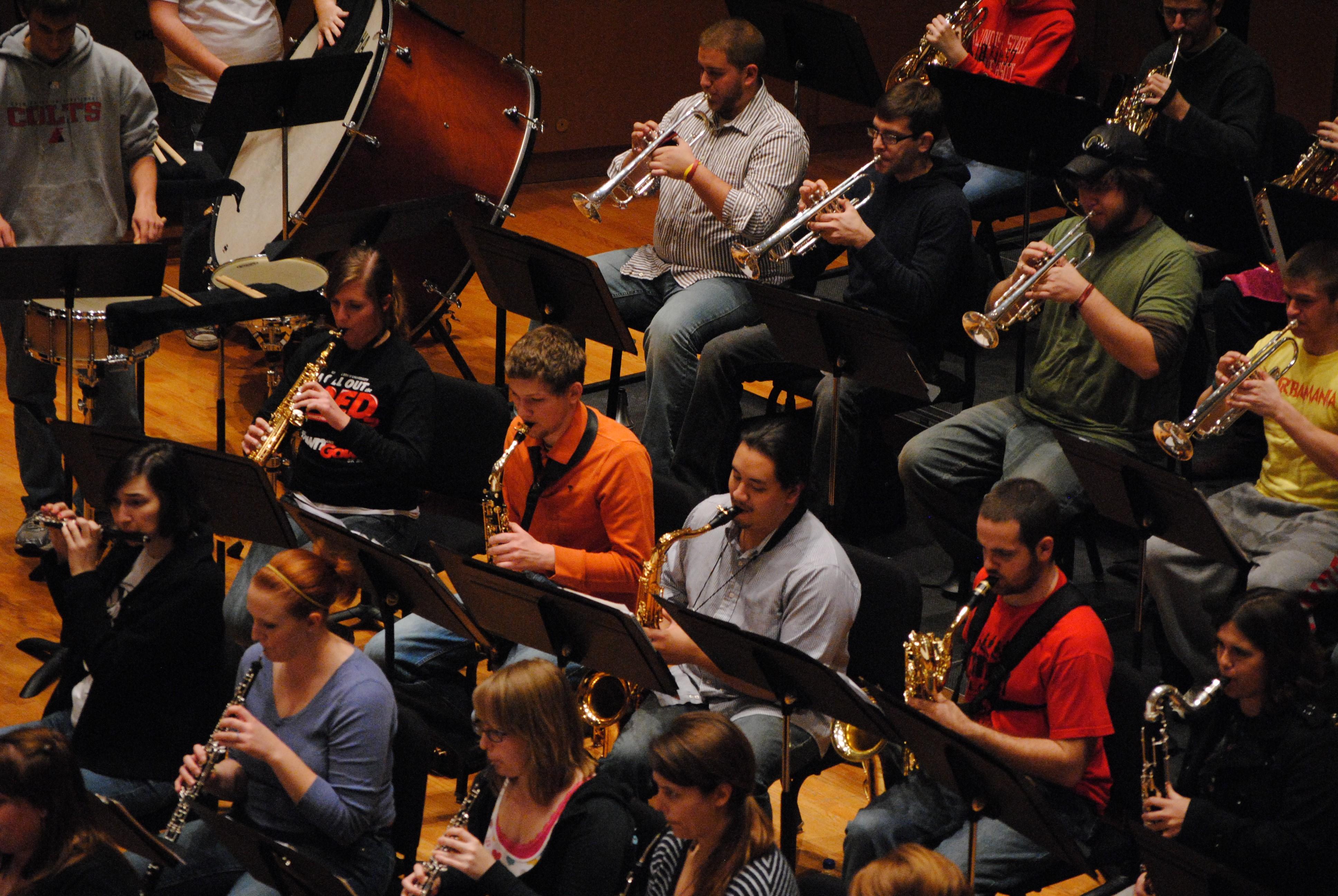 Members of the ISU Wind Symphony
