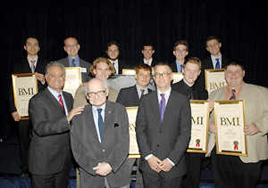 Group shot of the BMI Student Composer Award winners